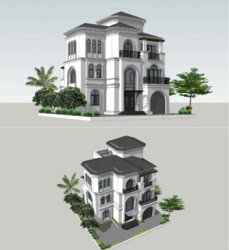 Phối cảnh biệt thự dự án Vinhomes Vũ Yên
