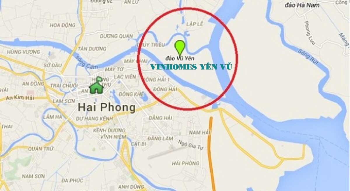 Vị trí dự án Vinhomes Vũ Yên